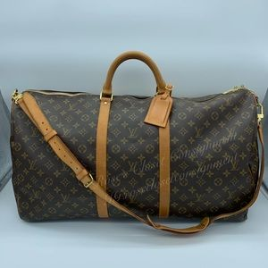 Authentic Louis Vuitton Keepall Bandoliere 60